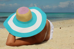 Girl sunbathing Stock Photos