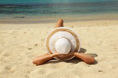 Girl sunbathing Royalty Free Stock Image