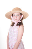Girl in Sunday bonnet Royalty Free Stock Photo