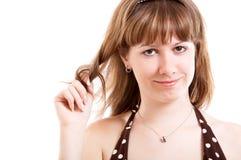 Girl in sundress Stock Image