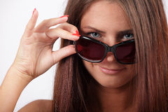 Girl with a sunglasses Stock Photo