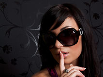 Girl in the sunglasses. Closeup Royalty Free Stock Images