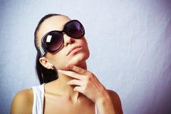 Girl in the sunglasses. Closeup Stock Photo