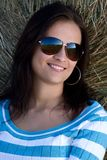 Girl with sunglasses Royalty Free Stock Images