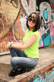 Girl in sunglasses Royalty Free Stock Photo