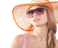 Girl  sunglasses Stock Photo