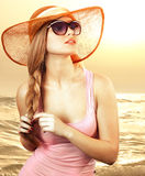 Girl  sunglasses Royalty Free Stock Photo