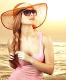 Girl  sunglasses Royalty Free Stock Photo