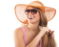 Girl  sunglasses Royalty Free Stock Photos