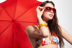 Girl in sunglasses Royalty Free Stock Images