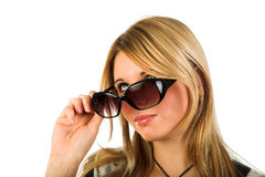 Girl with sunglasses Royalty Free Stock Image