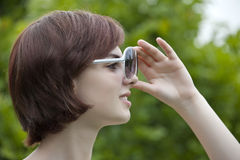 Girl with a sunglasses Stock Photography