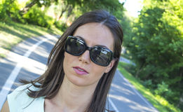 Girl with sunglasses Stock Photos