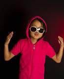 Girl with sunglasses Stock Image