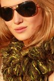 Girl with sunglasses 3 Royalty Free Stock Images