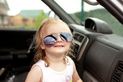 Girl in sunglasses Stock Photo