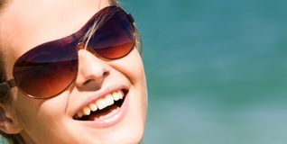 Girl with sunglasses Stock Photo