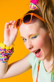 Girl and sunglasses Royalty Free Stock Photo