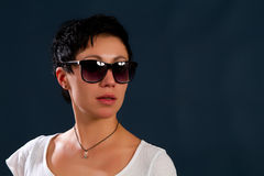 Girl in sunglasses Stock Images