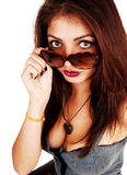 Girl with sunglasses. Stock Image