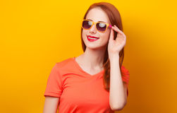 Girl in sunglasses Stock Photography