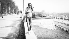 Girl in sunglasses. Stock Images