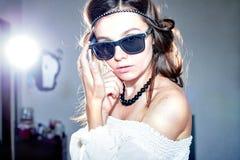 Girl in sunglasses Stock Photo