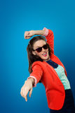 Girl in sunglasses. Portrait of a beautiful girl in sunglasses Royalty Free Stock Photos