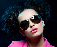 Girl in the sunglasses Stock Images