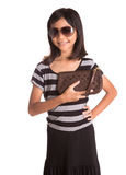 Girl With Sunglasses And Purse I Stock Photos