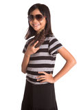 Girl With Sunglasses And Purse II Royalty Free Stock Image