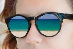 Girl sunglasses Stock Photography