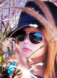 Girl in sunglasses. Royalty Free Stock Photos