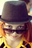 Girl in sunglasseses Royalty Free Stock Photos