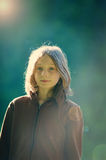 Girl in sunlight Royalty Free Stock Photos
