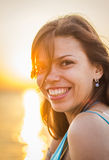 Girl in sunshine Stock Images
