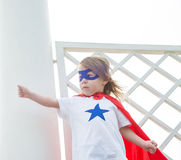 A girl super hero Stock Images