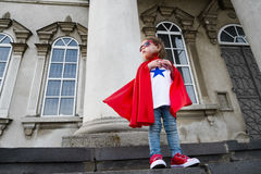 A girl super hero Royalty Free Stock Images