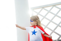 A girl super hero Stock Photography