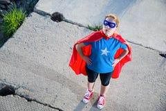 Girl super hero Stock Photos