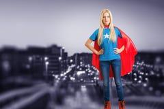 Girl super hero Stock Images