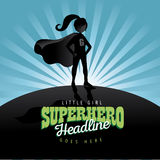 Girl super hero burst background Royalty Free Stock Image