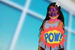 Girl Super Hero Stock Photography