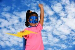 Girl Super Hero Stock Photo