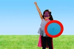 Girl Super Hero Stock Image