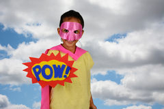 Girl Super Hero Royalty Free Stock Photography