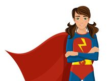 Girl in superhero costume Stock Photography