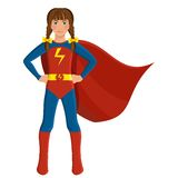 Girl in superhero costume Stock Image