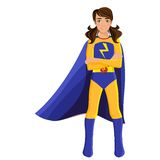 Girl in superhero costume Stock Photos