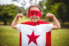 Girl in superhero costume Stock Photo